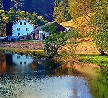 A summer evening along the river II | waterscape photography by Patrick Jobst