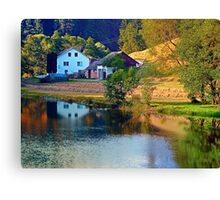 A summer evening along the river II | waterscape photography Canvas Print