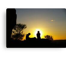 Sunset At Broken Hill Canvas Print