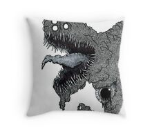 Psychedelic Demon Throw Pillow