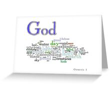 Genesis 1 Greeting Card
