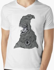 Psychedelic Demon Mens V-Neck T-Shirt