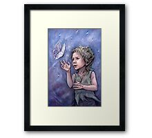 Bright Visitor Framed Print