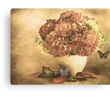 Vintage Hydrangea. Canvas Print
