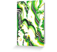 Green structure Greeting Card