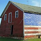 patriotic barn by Lynne Prestebak