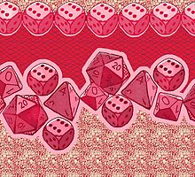 Lucky Dice - Pink by Cori Redford