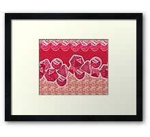 Lucky Dice - Pink Framed Print
