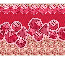 Lucky Dice - Pink Photographic Print