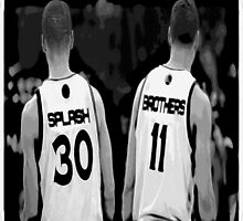 G.S. Warriors Splash Brothers Black and White. by TheItarican