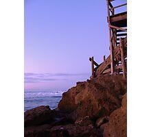 beach entry Photographic Print