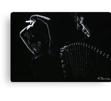 The Intensity of Flamenco Canvas Print