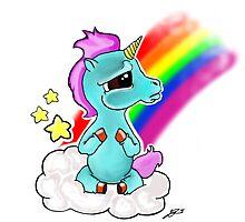 Adorable baby unicorn by steelartstudios