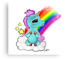 Adorable baby unicorn Canvas Print