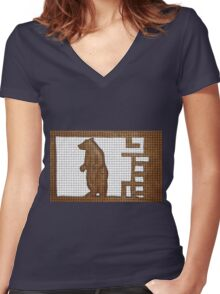 standing bear Women's Fitted V-Neck T-Shirt