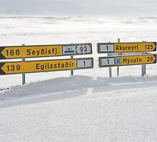 Akureyri Road Sign by Johan Dahlberg