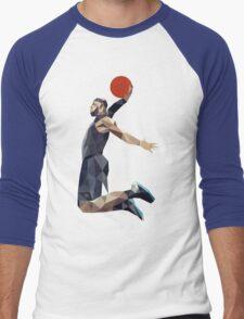 Basketball Dunk Men's Baseball ¾ T-Shirt