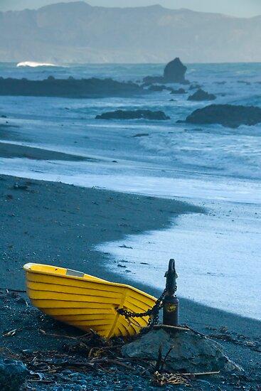 Yellow Boat by Werner Padarin