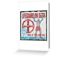 The Lifeguard Creature Is On Duty (2) Greeting Card