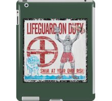 The Lifeguard Creature Is On Duty (2) iPad Case/Skin