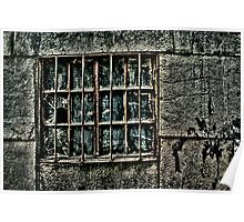 Broken Metal Window Fine Art Print Poster