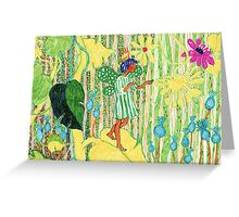 Flower Elf Greeting Card