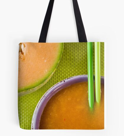 Melon and Winter Squash Soup With Chili Sting Tote Bag