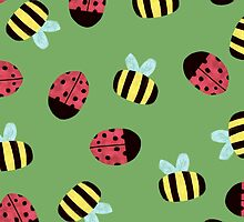 Bumblebees and Ladybugs by megsneggs