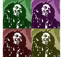 Bob Marley times four Photographic Print