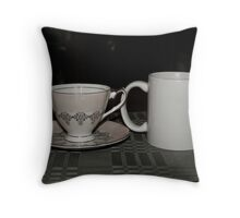 Arabica & Earl Grey Throw Pillow