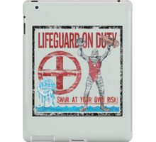 The Lifeguard Creature Is On Duty (1) variant  iPad Case/Skin