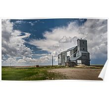 Grain elevator near Fresno, Montana Poster