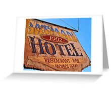 Oatman Hotel Sign Greeting Card