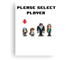 Please Select Player Canvas Print