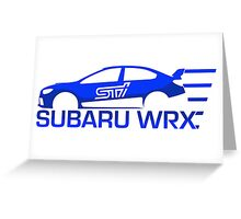 Subaru WRX STi Greeting Card