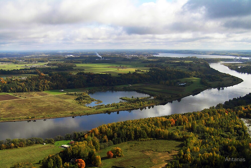 Dauguva river (The Baltic states) by Antanas