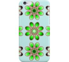 Shades of Green Foot Flowers iPhone Case/Skin