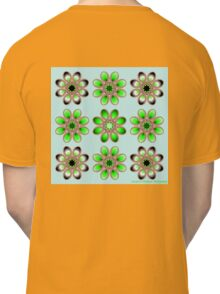 Shades of Green Foot Flowers Classic T-Shirt