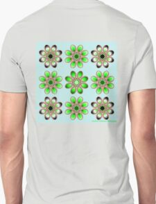 Shades of Green Foot Flowers T-Shirt