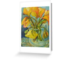 YELLOW TULIPS, the ebb and flow Greeting Card