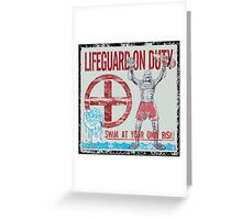 The Lifeguard Creature Is On Duty (2) variant Greeting Card
