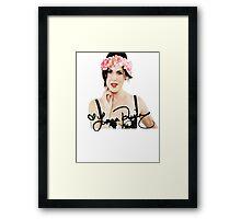 Lana Parrilla Flower Crown Framed Print