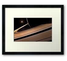 Saturn's Rings Framed Print