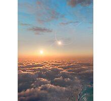 Planet of Kepler 35 Photographic Print