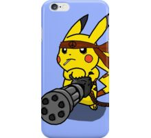 pokemon pikachu peace machine gun chibi anime shirt iPhone Case/Skin