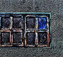 Abandoned Metal Window Fine Art Print by stockfineart