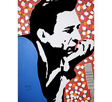 Johnny Cash taking ten Photographic Print