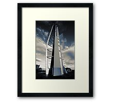 Monochrome Tower Framed Print
