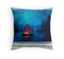 The Dream Traveler - January card Throw Pillow