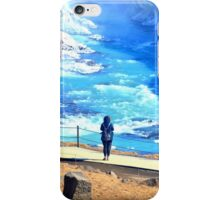 Woman in front of Gullfoss Waterfall, Iceland iPhone Case/Skin
